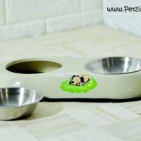 ظرف دوقلو سگ استیل